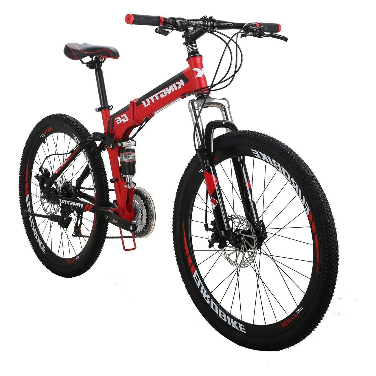 "Kingttu 26"" Folding 21 Bicycle MTB"