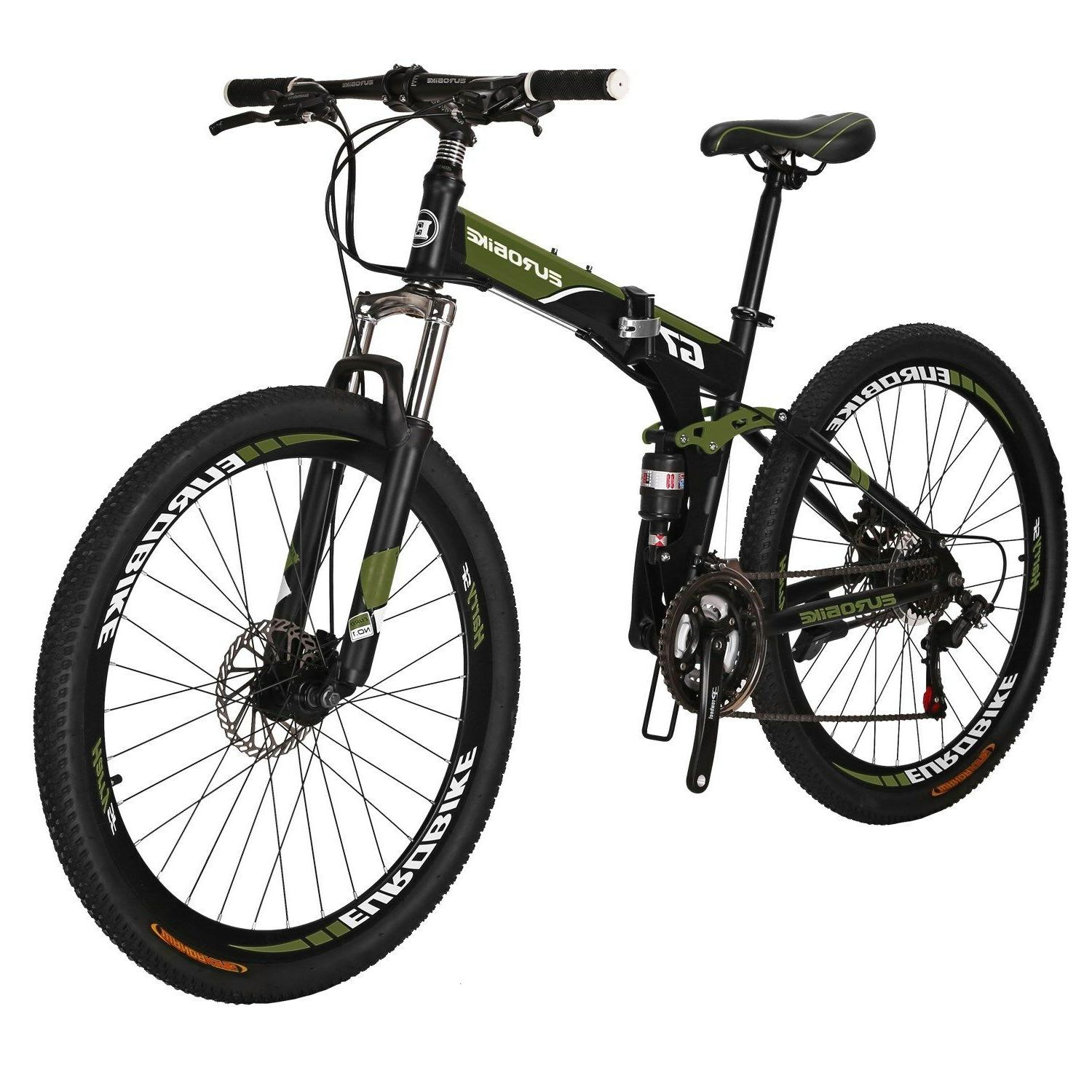Full Folding Bike Bicycle Mens Disc MTB