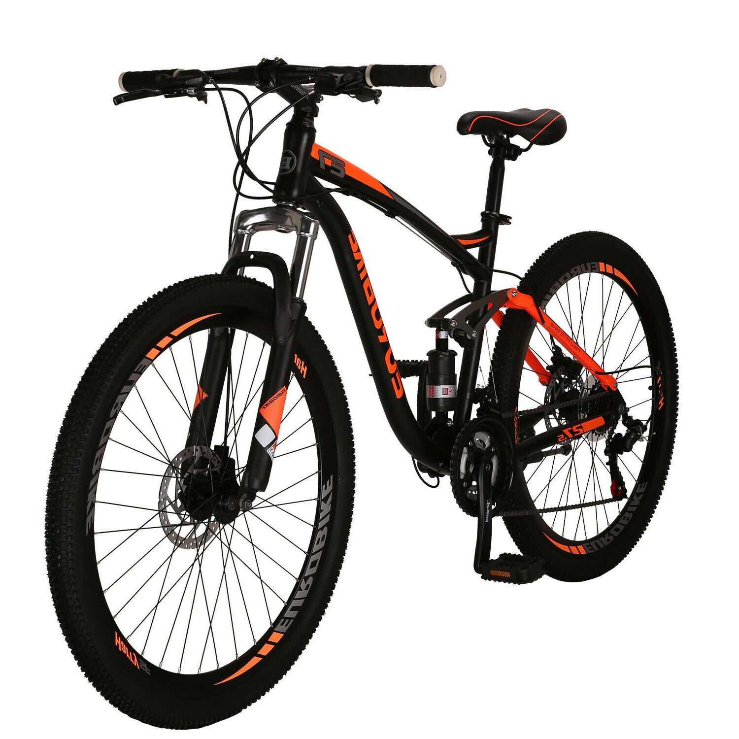 "Full Suspension Shimano 21 Speed Bicycle 27.5"" Disc Brakes"