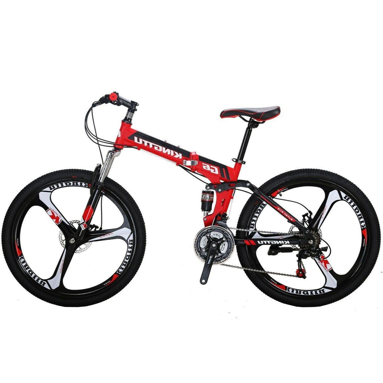 """G6 Mountain Bike 26"""" 3 Spoke Suspension Speed Bicycle"""