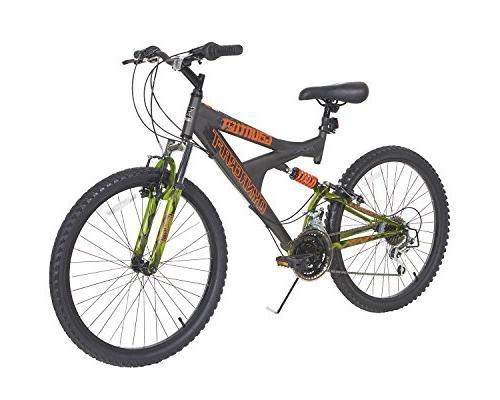 Dynacraft Boys' Dual Suspension Bike, Gray
