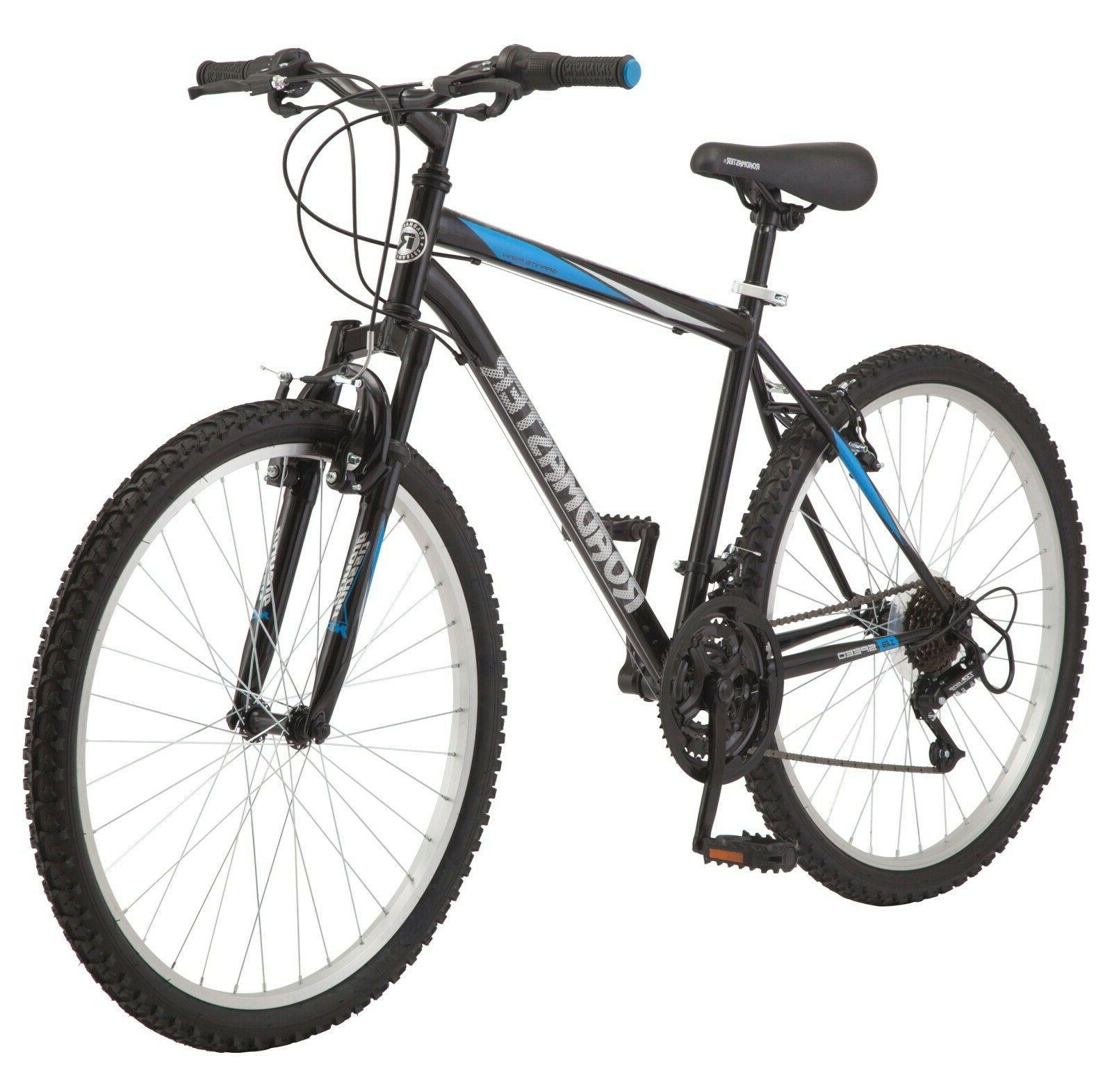 "🔥Roadmaster Granite Peak Mountain Bike Men 26"" Black/Blue"