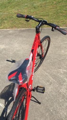Hybrid Bike 700c Schwinn Speed Red Fitness Bicycle