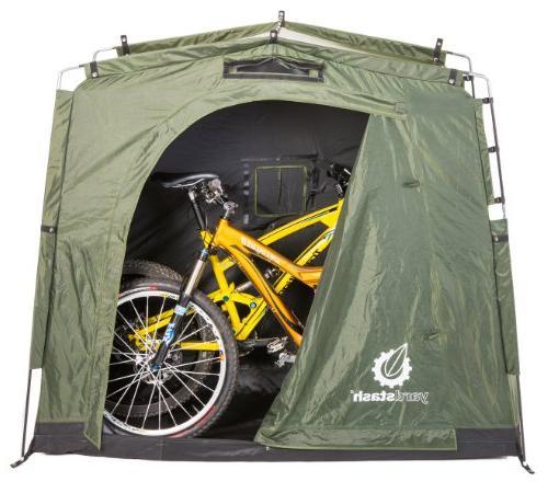 The YardStash Space Saving Bike Garden Storage