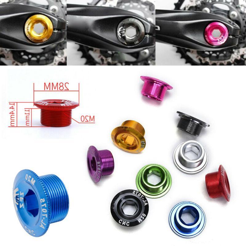 M20 MTB  Mountain Bike Bicycle Bolt Crankset Crank Cover BB Axis Screw Cap