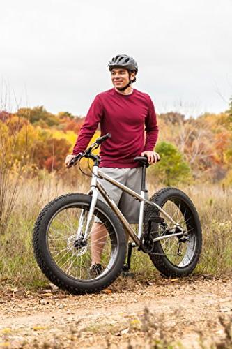 Mongoose Men's Malus Tire Bike, Silver