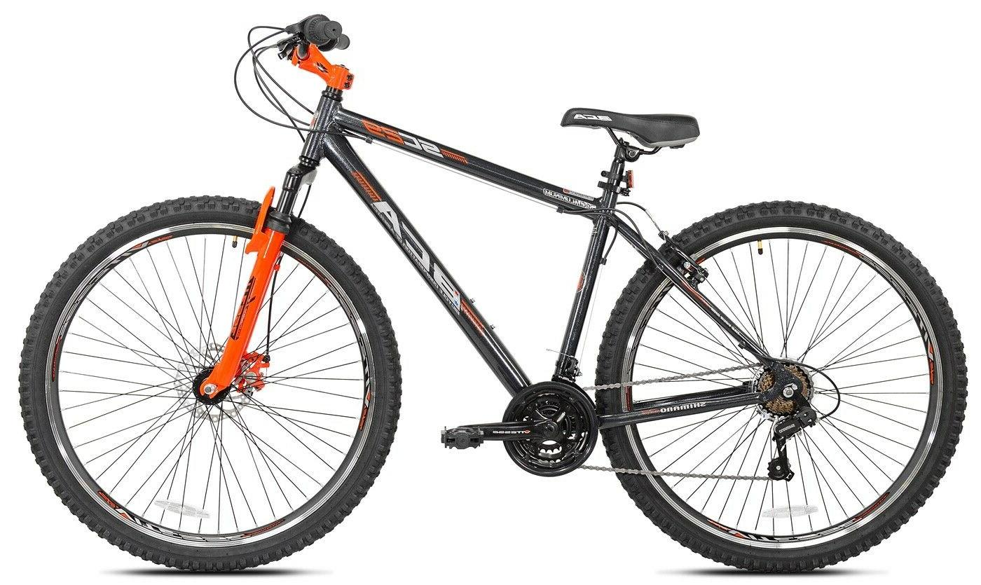"Men's Mountain Bike 29"" Aluminum 21 Speed Bicycle Gray/Orang"