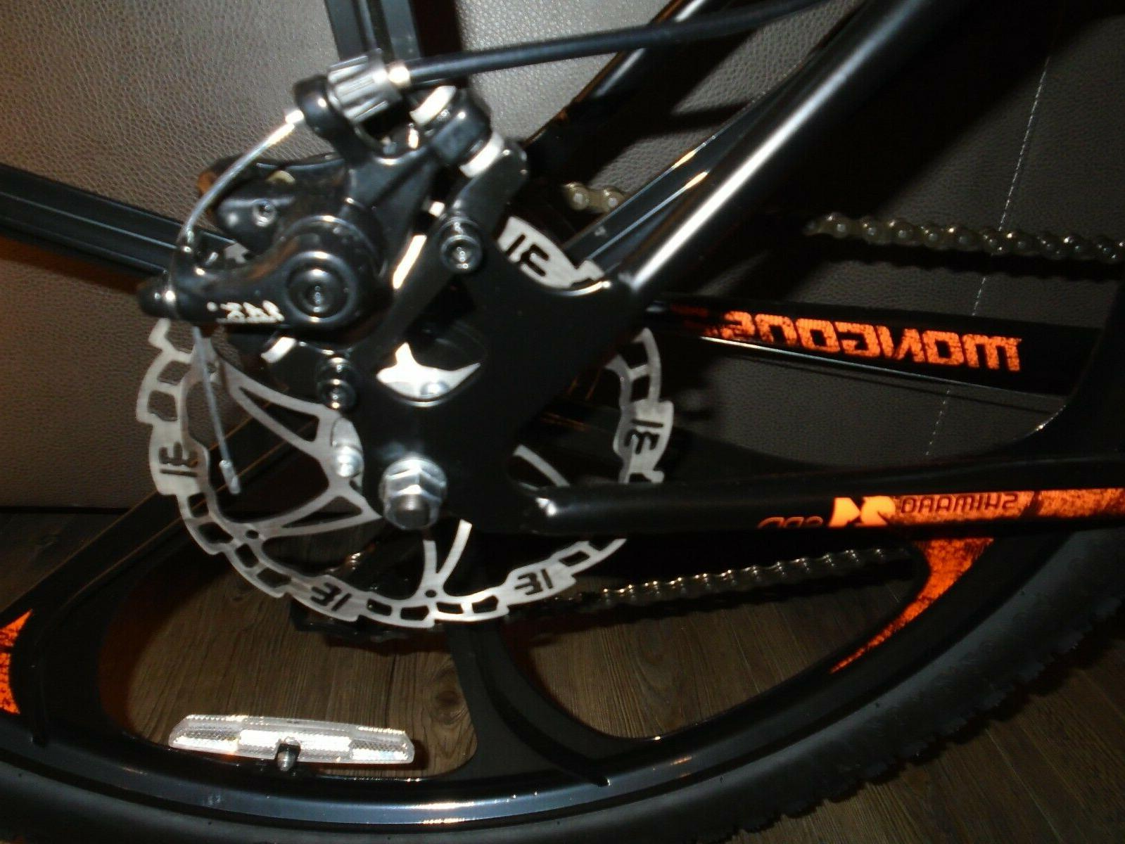 MENS BLACK/ORANGE 21-SPEED MOUNTAIN BIKE NEW