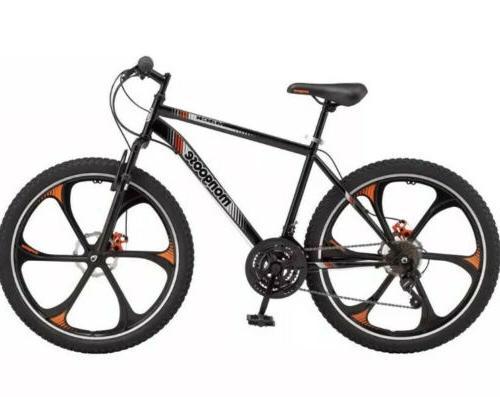 Mens Mack Steel Frame Mountain Black/Orange/Grey