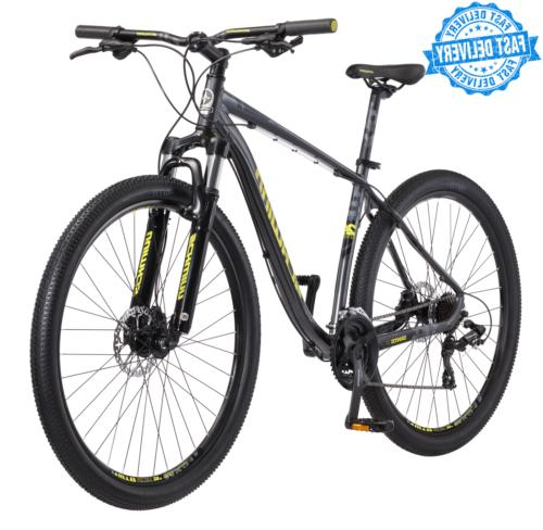 mens mountain bike gray aluminum mountain style