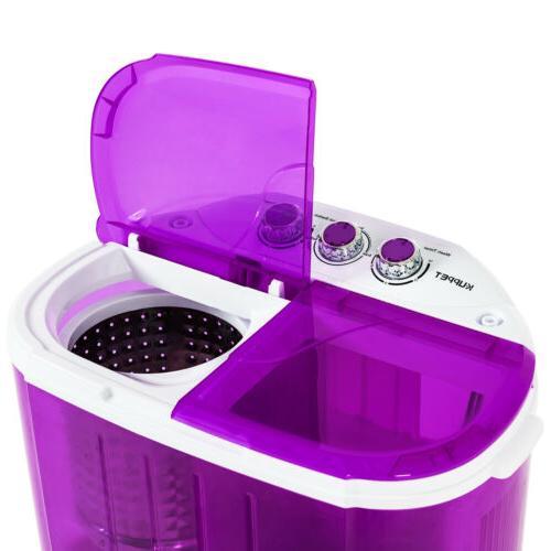 Mini 10lbs Washing Machine Compact Spin Dryer RV Dorm Laundry