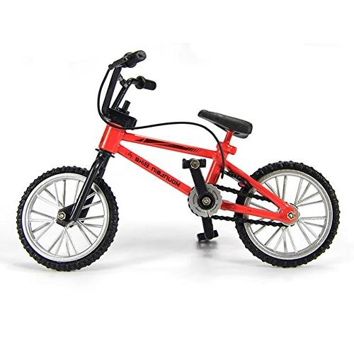miniature metal toys finger bicycle