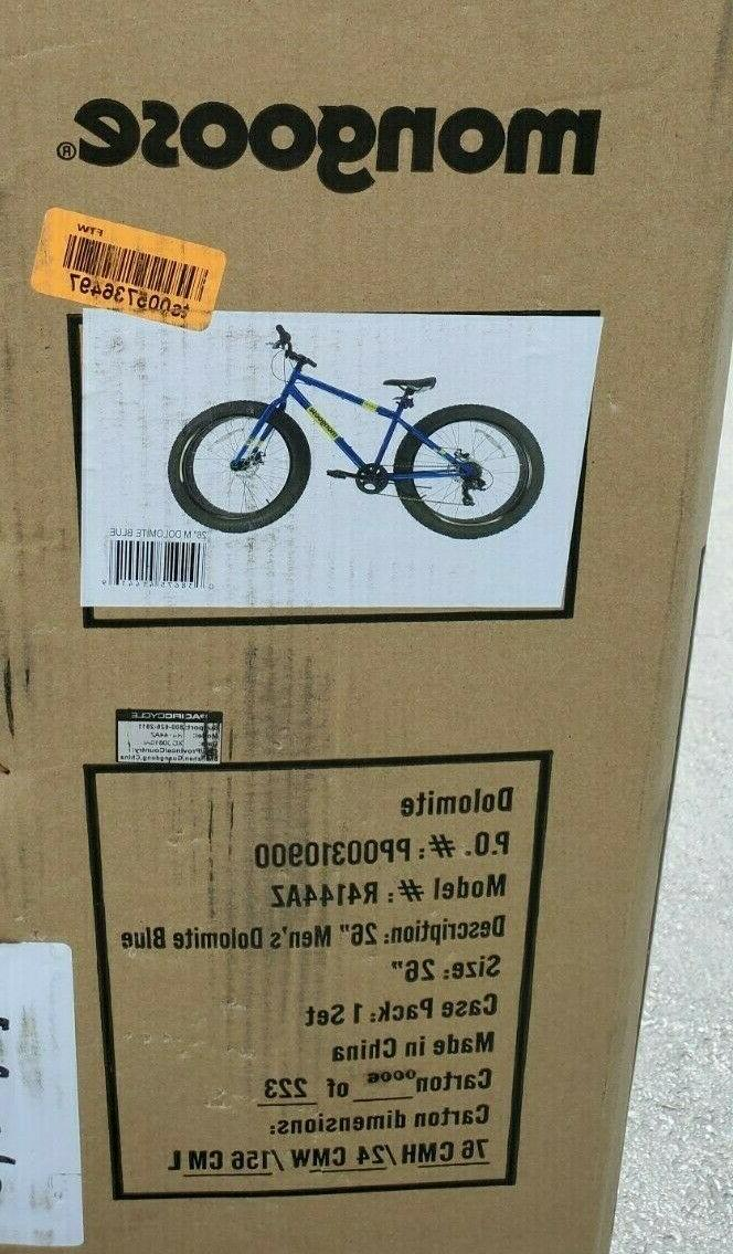 Mongoose 26 inch Fat Tire Mens Mountain Bike new