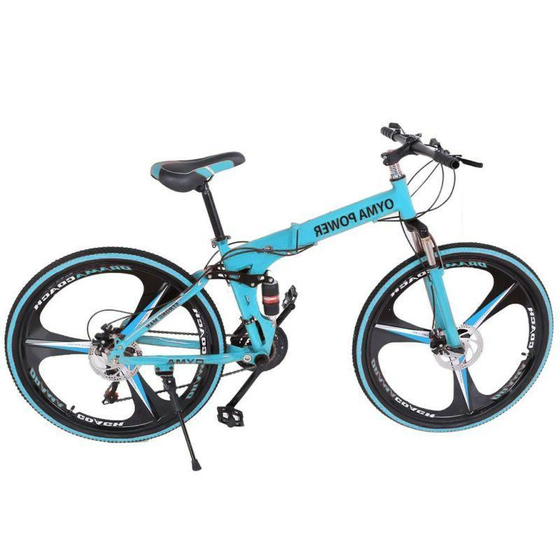 "Mountain 26"" 3 Spoke Suspension Folding Bicycle g6"
