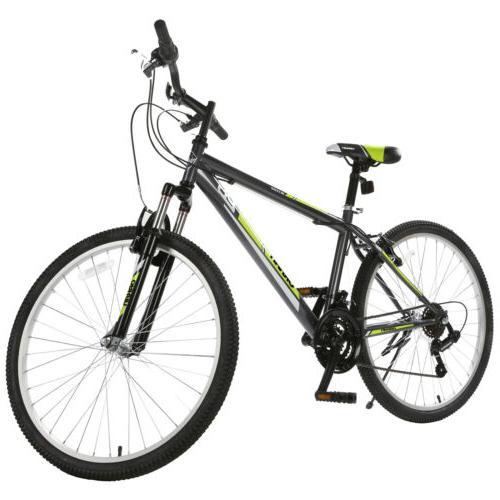 26'' Mountain Bike Bike 18 Suspension Bicycles Yellow