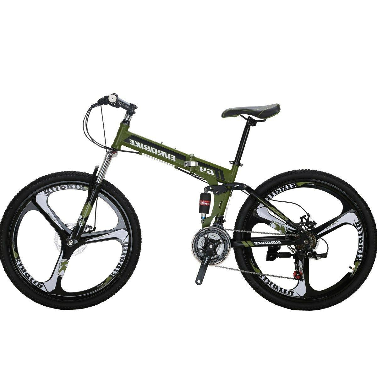 "Mountain Frame 26"" 21 Folding Bicycle Full Suspension"