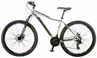 """Schwinn Men 27.5"""" Silver Frame Bicycle Disc"""