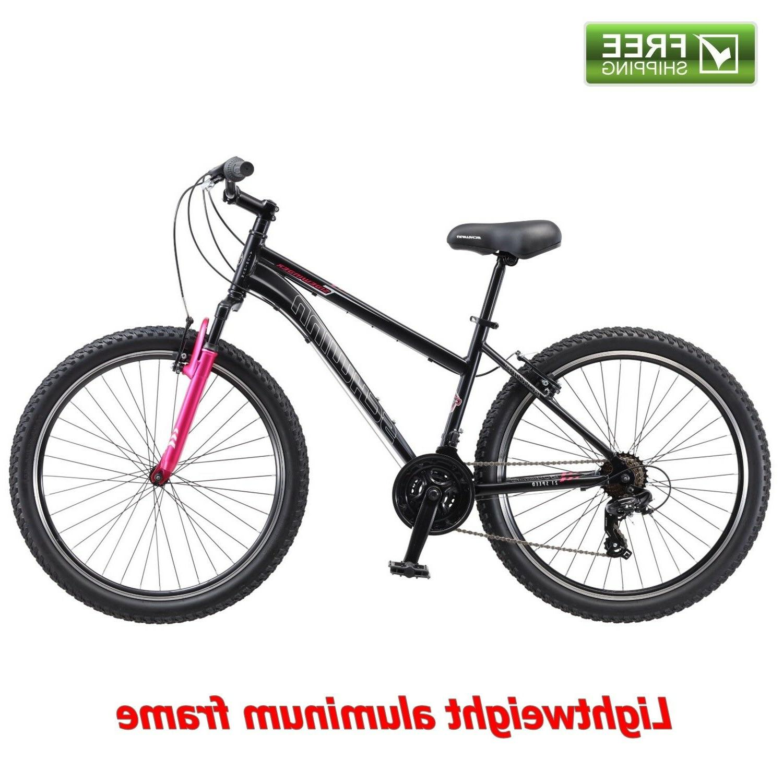 "Schwinn Mountain Bike Women 26"" Black Pink Shimano Aluminum"