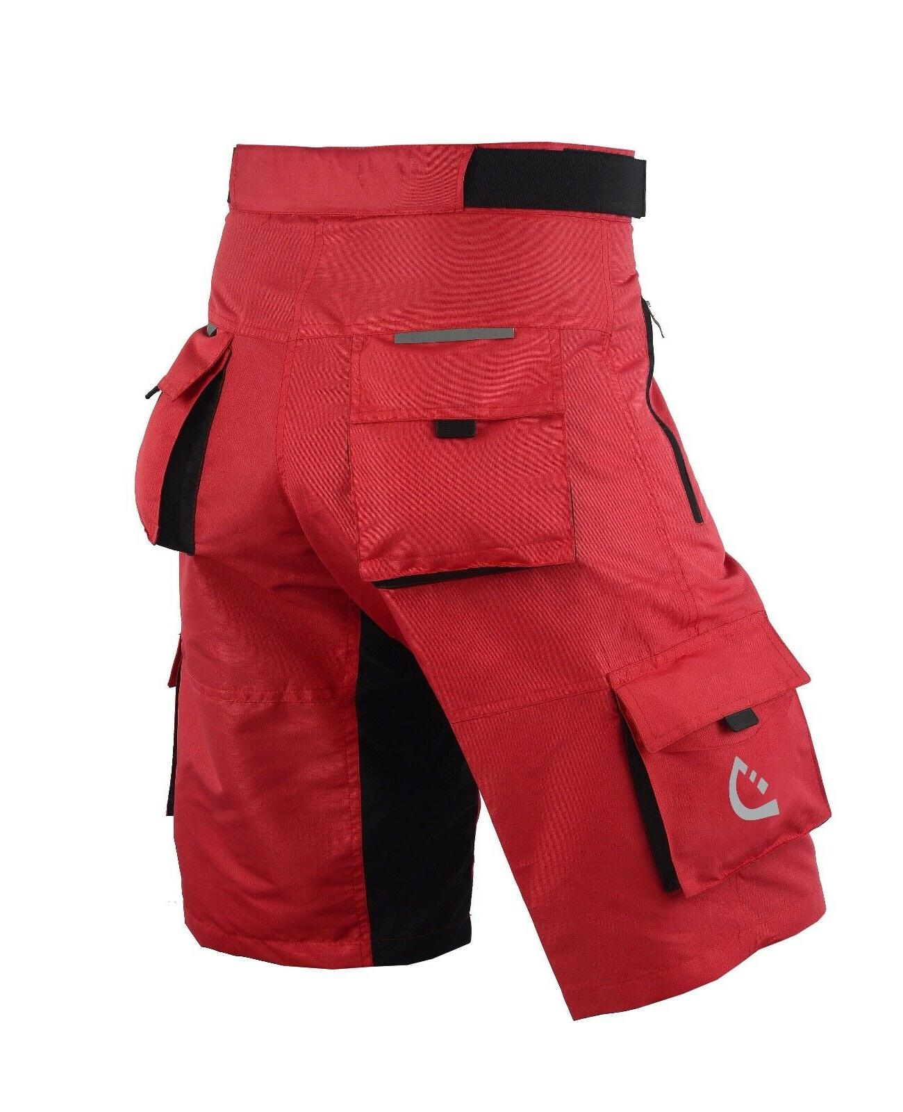 Deckra Men/'s Cycling MTB Shorts with Detachable Padded Inner Liner Baggy Shorts