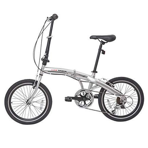 mtb folding bike shimano silver