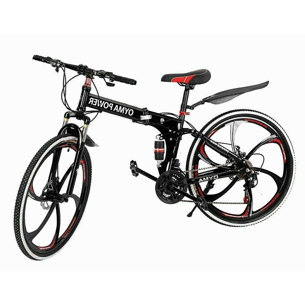 "All-terrain 26"" Folding Mountain Double Disc Brake Bicycle 21"
