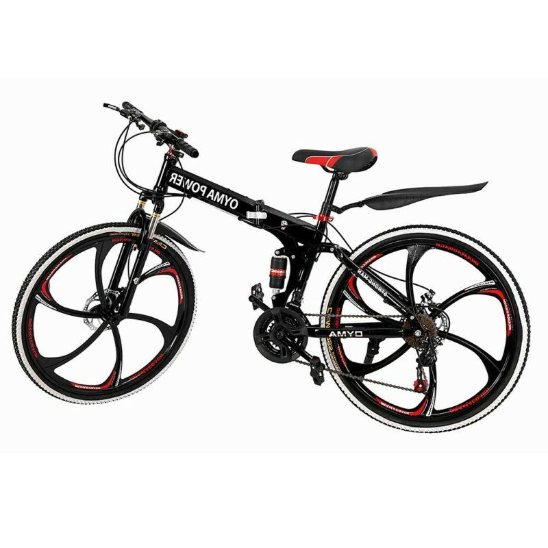 "Outroad Bike 21 Speed 26"" Folding Double Disc BLACK"