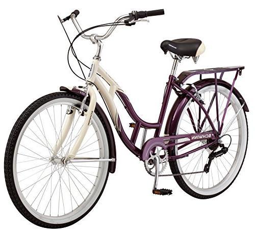 Schwinn Women's Bicycle, 26-Inch Wheels, 16-Inch Frame, Cream/Purple