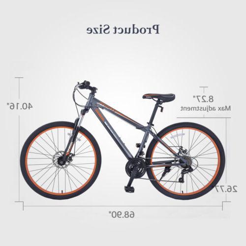"27.5"" Bike Hybrid 21 Bicycle Sports Orange"