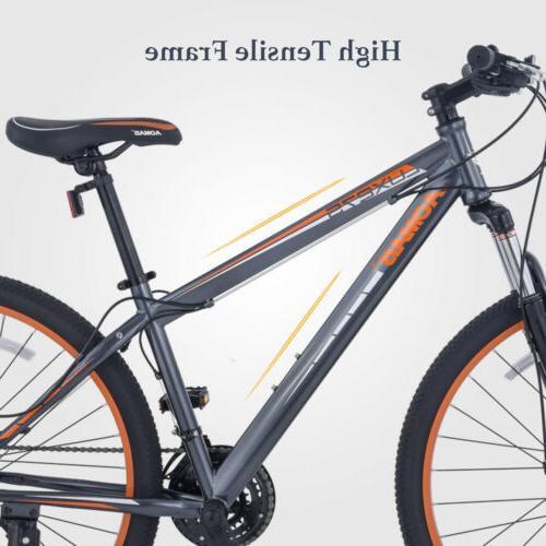 """27.5"""" Men's Mountain Bike Bicycle Grey & Orange"""