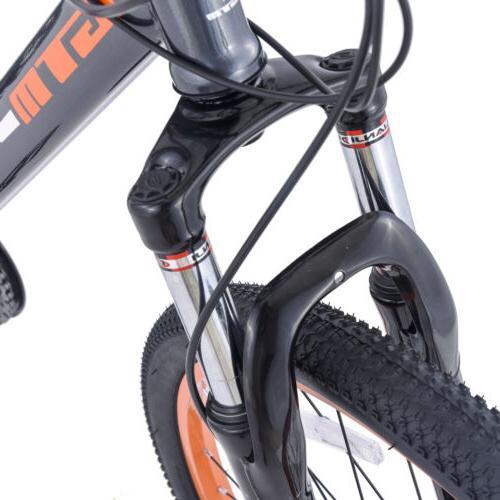 """27.5"""" Men's Bike Bicycle Grey Orange"""