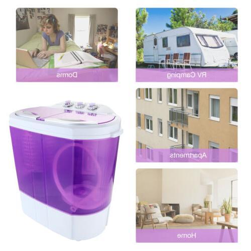 Mini Portable Washing 10lbs Washer Dryer Dorm Laundry