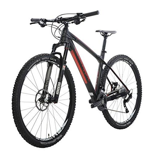 Steppenwolf Carbon Pro Hardtail Mountain Bike, 29 wheels, inch frame, Men's Black/Red, assembled