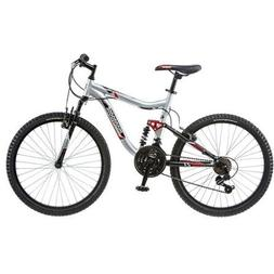 "Mongoose Ledge Bike 24"" Inch for Boys' Mountain Bike Silver,"
