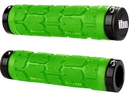 ODI Rogue Lock-On Grips w/ Clamps Lime Green/Black 115mm