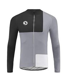 Uglyfrog Long Sleeve Cycling Jersey Men with 3 Pockets,Breat