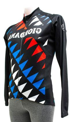 Giordana Long Sleeve Thermal Jersey Men MEDIUM Black Red Roa