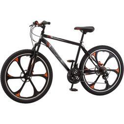 "26"" Mens Mongoose Mack Mag Wheel Bike, Black and Orange"