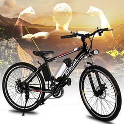 "Men Super E-Bike 26"" Electric Mountain Bike Fat Tire Bicycle"