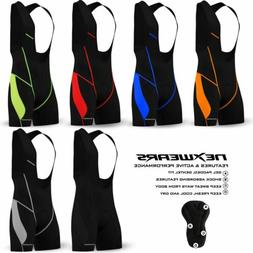 Mens Cycling Bib Shorts Bicycle Road Bike Coolmax Pad MTB Mo