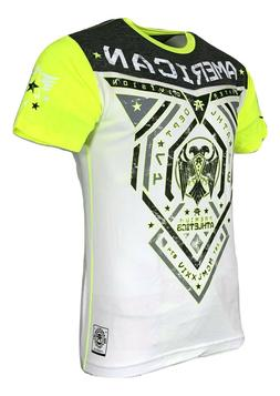 AMERICAN FIGHTER Mens T-Shirt BLUE MOUNTAIN  Athletic Biker