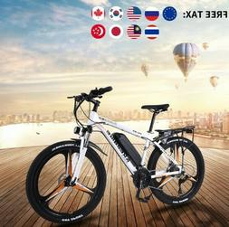 Merax 26in Dual Disc Brakes 21 Speed Hardtail Electric Mount