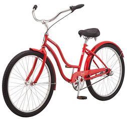"""Schwinn Mikko Women's Cruiser Bike, 3-Speed, 26"""" Wheels, Red"""