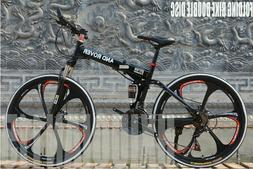 Mountain Bike 21 Speed 26 inch Folding Bike Double Disc Brak