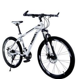 """Yeahmol Mountain Bike 21 Speed Double Disc Brakes 26"""" Variab"""