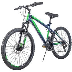 "Huffy Mountain Bike 24"" Blue Front Suspension Men Bicycle"