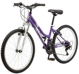 "Mountain Bike 24"" Roadmaster Granite Peak Purple Bicycle Cyc"