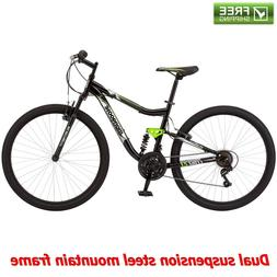 "Mongoose Mountain Bike 27.5"" Black Full Suspension Sport M"