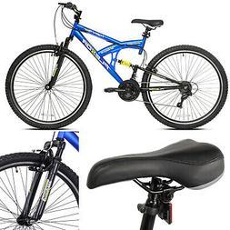 """Mountain Bike Kent 29"""" Men's Bicycle Dual Suspension Blue 21"""