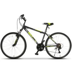 26'' Mountain Bike Hybrid Bike 18 Speed Front Suspension Bic