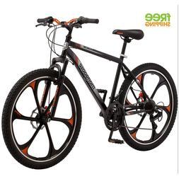 "Mongoose Mountain Bike Black 26"" Men Alloy Wheel Bicycle Dis"